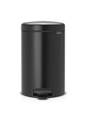 Brabantia 113741 Step Trash Can, 3.2 gallon, Matt Black