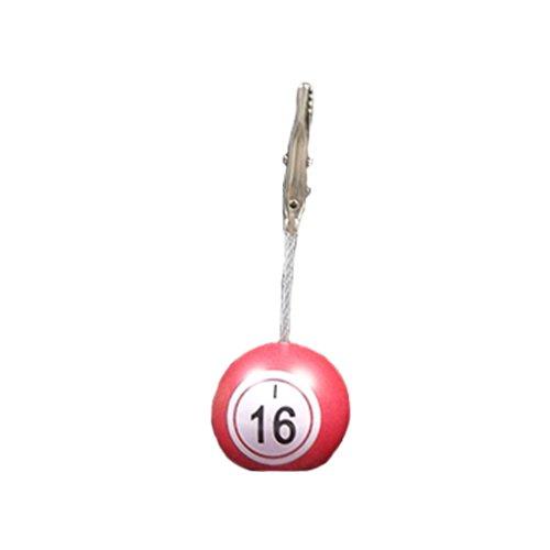 Bingo Ball Ticket Holder Red