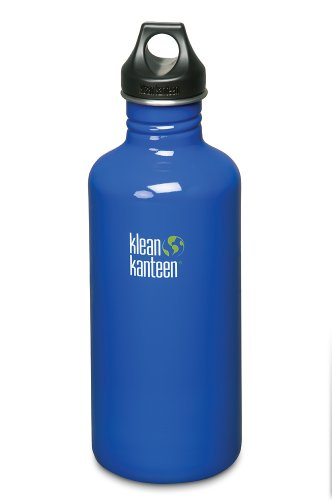 Klean Kanteen Stainless Steel Water Bottle with Poly Loop Cap (40-Ounce, Ocean Blue) by Klean Kanteen