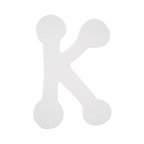 Darice 9185-K Wood Letters, Dot to Dot K, White, 5-Inch ()