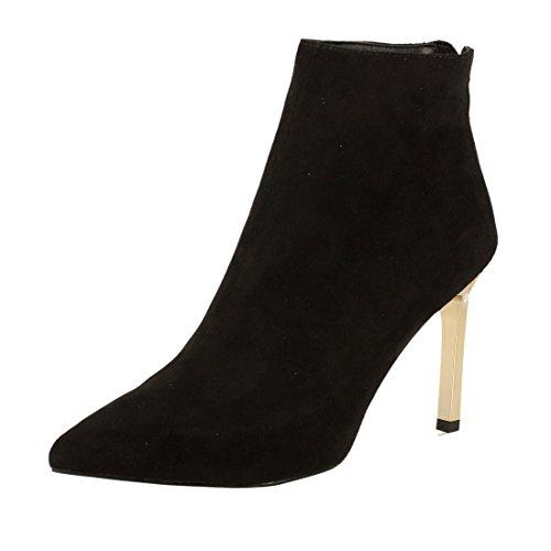 Versace Jeans Women's Linea Heel Velour Ankle Boots Silver