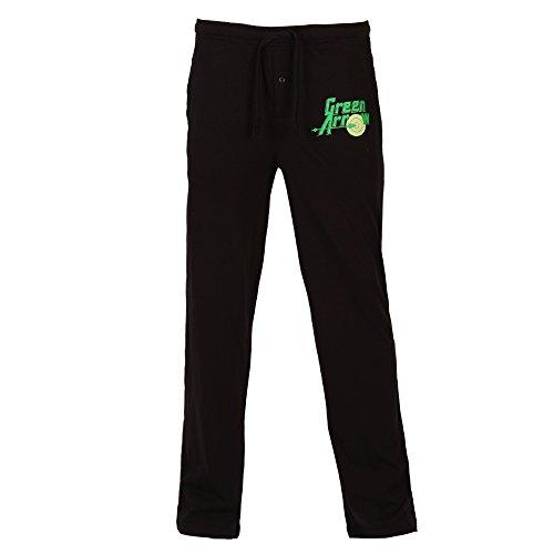 DC Comics Green Arrow Logo Adult Lounge Pants - Black (Crossover Pajama Pants)