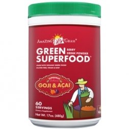 Green SuperFood Berry Flavoured Drink Powder - New-17 oz. Br