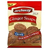 Archway Home Style Cookies, Snacking, Ginger Snaps,14oz, (pack of 2)
