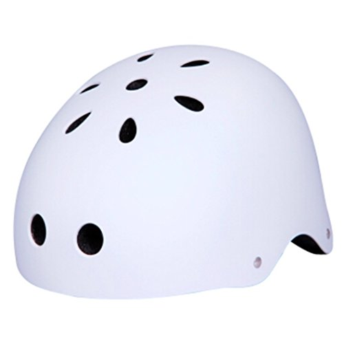 Zjoygoo 2018 Bicycle Cycling Street Kids Safety White Bike Helmets Protective Gear for Toddler Child Children Outdoor Sports Satety Firm Kids Helmet for Boys Girls Student Pupil Age 3-5 5-8