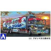 青島文化教材社 1/32 大型デコトラ No.52 闇の切り札 ロングシャーシ保冷車の商品画像