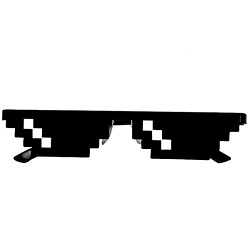 Price comparison product image MOKAO Funny Expression Pack Sunglasses Toy Thug Life Glasses 8 Bit Pixel Deal With IT Sunglasses Unisex Sunglasses Toy