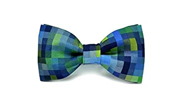 4a99542f3dec Amazon.com: Mule Ties Blue Green Lagoon Ready-to-wear Bow Tie ...