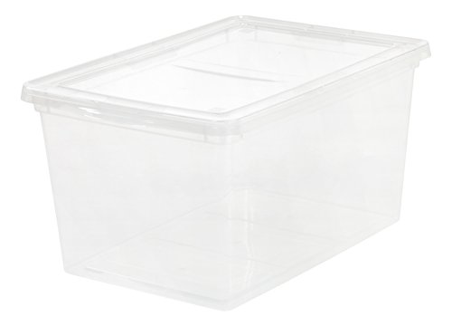 IRIS 58 Quart Clear Storage Box, 6 Pack
