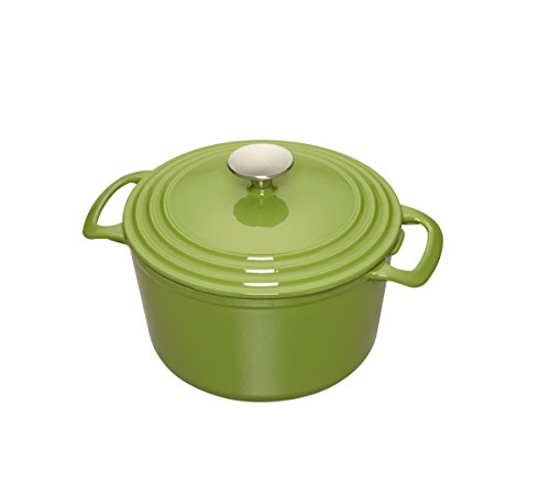 Cooks Enameled Cast Iron 5.5 quart Dutch Oven, Medium, Green