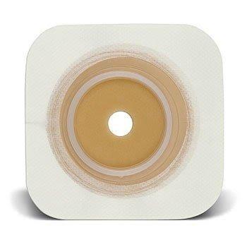 Convatec 413162 Sur-Fit Natura Durahesive Skin Barrier 5'' x 5'' - White - 2 1/4'' Flange - Box of 10