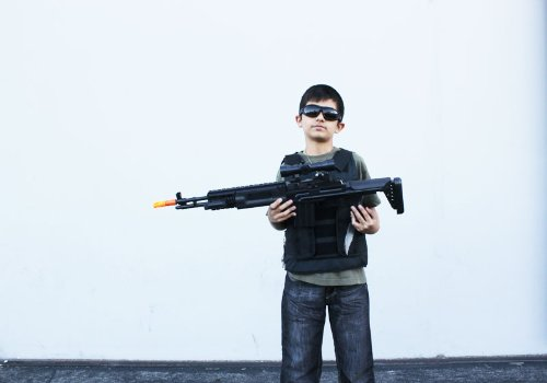 Amazoncom Long Toy Gun Sniper Rifle With Scope And Light 3