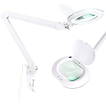 """NEW Table Magnifier Lamp 7/"""" Lens Light Magnifying Desktop Viewing Tool 28W White"""