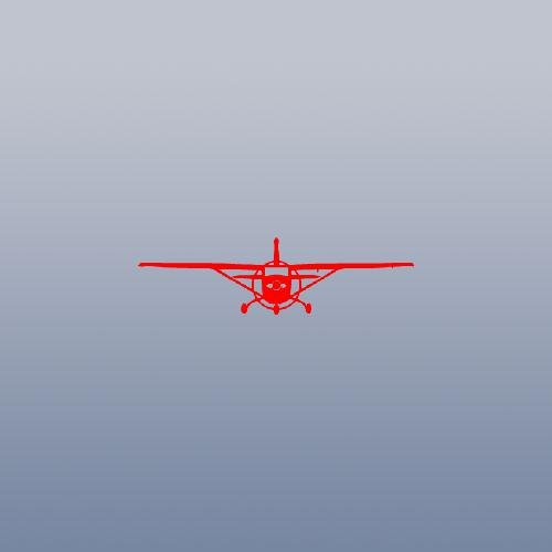 (MACBOOK WALL DECAL STICKER ART CAR CESSNA 172 SKYHAWK SKY HAWK WINDOW ADHESIVE VINYL RED DECORATION CAR LAPTOP HOME DECOR VINYL DECOR BIKE by cybersavs)