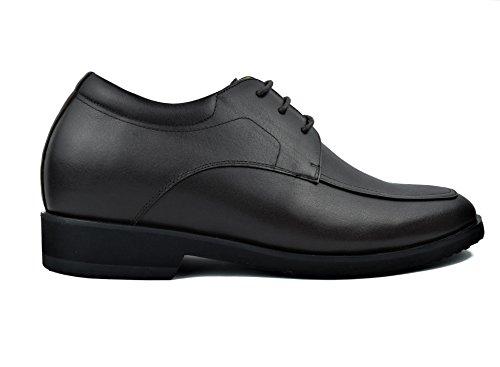 Zerimar Zapatos con Alzas Interiores Para Hombre Aumento 7 cm Zapato de Estilo Elegante Piel Natural (44, Marron)