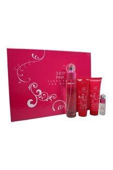 360 Pink 4 Piece Gift Set for Women 3.4 oz. EDP Spray, 3 oz. Body Lotion, 3 oz. Shower Gel, 0.25 oz. EDP Spray...