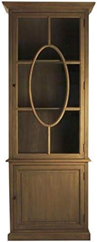 EuroLux Home Florence Display Cabinet Recycled Oak Reclaimed 2 -Shelf