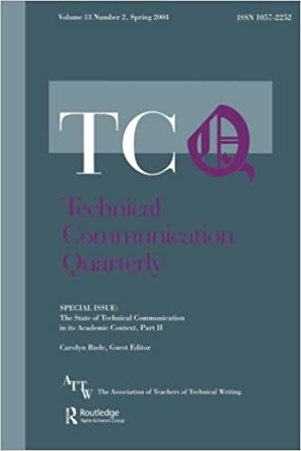 The State of Technical Communication in Its Academic