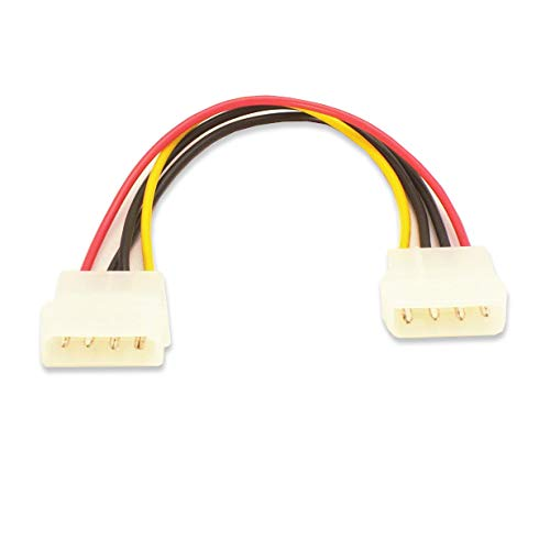 4 Pin Molex Male to a 4 Pin Molex Male Power Cable 6in