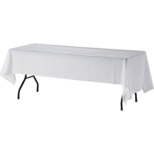 (4-Pack) Heavy Duty Plastic Table Covers Tablecloth (Reusable) (Rectangle 54