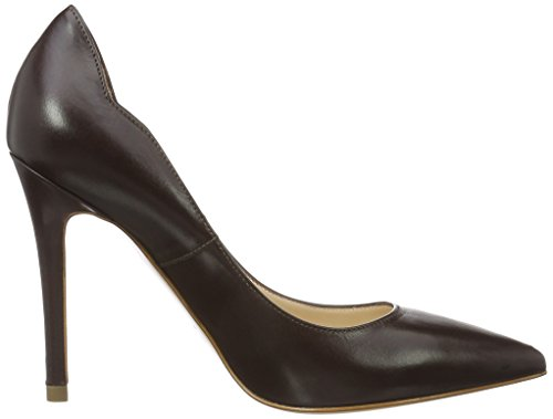 Shoes 22 Evita para Punta Dunkelbraun Zapatos Cerrada Alina Marrón con Tacón Mujer de dqq7B8S