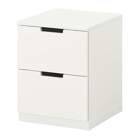 Ikea Nordli - Cassettiera a 2 cassetti, 40 x 52 cm, colore bianco ...