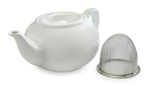 Adagio Teas PersonaliTea 24-Ounce Ceramic Teapot with Infuser Basket, Appliances for Home
