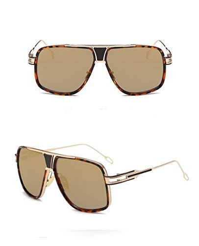 Gafas Oro Fliegend Montura Lente Metal Vintage Gafas Retro Sol de Estuche Mujer UV400 Espejo Gafas Gafas Unisex Súper Sol A de Sol de de Polarizadas Hombre con para Ligero Hqr4HgUna