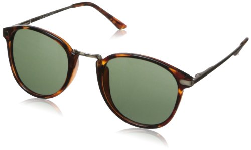 A.J. Morgan Unisex - Adult Castro Round Sunglasses,Tortoise,198 mm