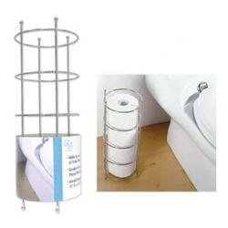 Euro-ware 3 roll chrome toilet paper holder single pack