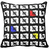Black And White Primary Colors Geo Sketch Squares R4d01cd2d9ef644c9ba67bde808aa7014 I5f0b 8byvr Pillow Case