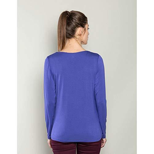Para Azul Camiseta Mekong Cobalto De Mujer La Du Manga Fiancee Larga U0wSCxZ