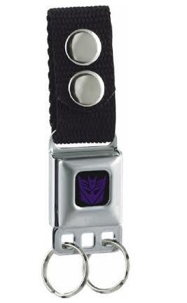 Transformers Decepticon Logo Seatbelt Keychain (Seat Belt Buckle Emblem)
