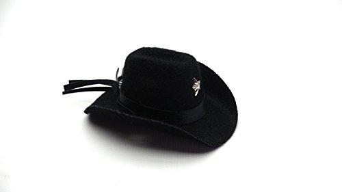 Bearded Dragon Cowboy Hat, Black