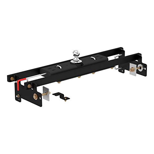 CURT 60711 Double Lock Black Gooseneck Hitch with Installation Brackets for 2007-2019 Chevrolet Silverado/GMC Sierra 1500 (30,000 lbs. GTW, 2-5/16