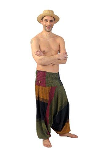 Giallo Teufer Sarouel Elastici Unisex Pantaloni Mahabharat 6Pwxt1