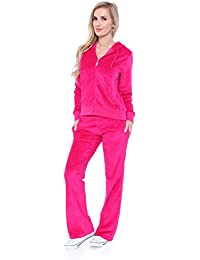 Comfortable and Stylish Velour 2 Piece Tracksuit Set