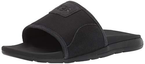 UGG Men's Xavier Ballistic Slide Sandal, Black, 11 Medium US (Mens Uggs Sandals)