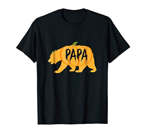 Halloween Papa Bear Pumpkin Funny Father's Gift T Shirt for $<!--$16.99-->