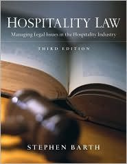 Read Online Hospitality Law 3th (third) edition Text Only pdf epub