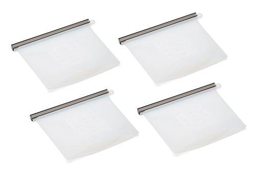 Fox Run 11714 Reusable Silicone Sous-Vide Airtight Zip Seal Storage Bag, 0.5 x 7.75 x 7 inches, Clear - Fox Run Silicone