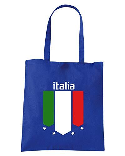 WC0083 Shopper Borsa ITALIA Blu Royal ITALY qd00tF