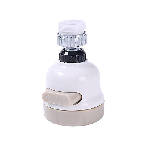 Yeahlvy 1 PCS Regolazione a Tre velocità Rubinetto a Rotazione Libera Boost Shower Filtro Anti-Schizzi Filtro Anti-Acqua