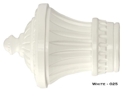 Charleston Finials - Kirsch Wood Trends - 1 3/8'' - White