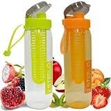 Steelo Sante Fruit Infuser Water Bottle (Assorted, sante-2-multi)- Set of 2
