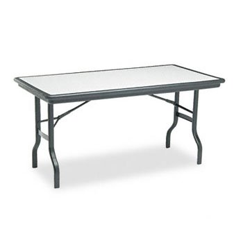 ICE65117 - Iceberg IndestrucTables Resin Rectangular Folding Table by Iceberg