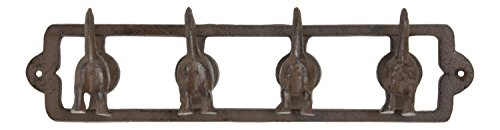 (Upper Deck Wagging Dog Tails Family Pet Quad Cast Iron Key Leash Hooks Wall Decor)