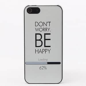 Be Happy Protective Hard Back Case for iPhone 5/5S
