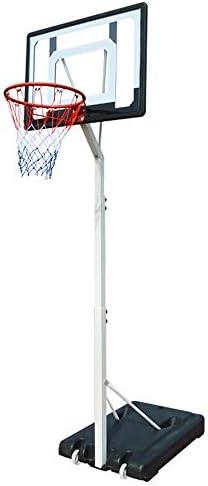 屋内バスケットボールラック 屋内ユース子供のバスケットボールは、ホームアウトドア可動昇降バスケットボールスタンドスタンド スタンディングバスケットボールセット (Color : Black, Size : 2.10-2.60m)