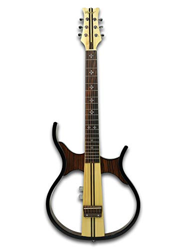 Silent Electric Guitar, 6 Steel String, w/a Gig Bad, Cable, Earphone